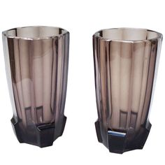 Pair of Art Deco Glass Vases Attributed to Koloman Moser | 1stdibs.com
