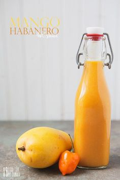 Mango Habanero Hot Sauce : Em' subs…white onion, 1 whole jalapeño no habaneros, red wine vinegar. Added 1/2 cup of cilantro.