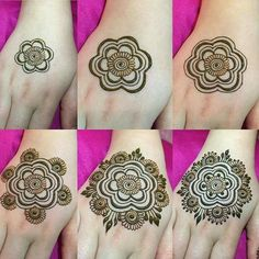 Tutorial Create Henna Design - Easy Henna Designs Drawings Step by Step for Beginner. this is new easy tutorial to create henna design for beginner Henna Hand Designs, Round Mehndi Design, Henna Flower Designs, Mehndi Designs For Beginners, Mehndi Design Photos, Beautiful Mehndi Design, Latest Mehndi Designs, Mehndi Designs For Hands, Simple Mehndi Designs