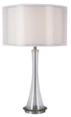 Trans Globe 1 Light Table Lamp with Polished Chrome Finish - GTL-212