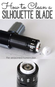 If your Silhouette blade starts making jagged cuts then it is time to clean it. It's easy and only takes a minute. Learn How to Clean a Silhouette Blade. The Seasoned Homemaker