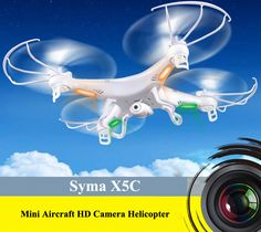 Syma X5C Remote Control 6 Axis Gyro 4CH 2.4GHz Quadcopter with 360 Degree 3D Flip 200W HD Camera $52.99
