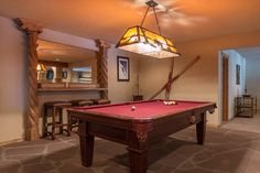 Pool Table/ Game Room. Luxury Home Photography. Architecture, Marketing, Real Estate and Life Photography based out of Breckenridge, Colorado.