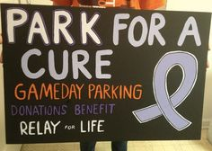 Park For A Cure - great for high school or college games! Follow us on Twitter @Relay For Life of Vinings - Smyrna, GA and Like us on https://facebook.com/RelayForLifeOfViningsSmyrnaGA Get involved or make a tax-deductible donation>> https://RelayForLife.org/ViningsSmyrnaGA