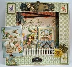 Beautiful project from Nancy Wethington using SECRET GARDEN from Graphic 45.