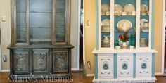 Amazing before and after with chalk paint tutorial
