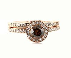 Trendy Diamond Rings : I love this! so in love with a cognac center cut diamond. My baby chose a perfec