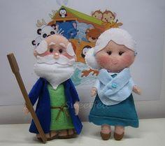 ♥♥♥ Começando uma arca de Noé! Que vos parece o meu Sr. Noé e esposa? by sweetfelt \ ideias em feltro, via Flickr