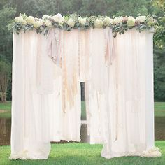 """What bride wouldn't want to say """"I do"""" beneath the Breathtaking Bohemian Outdoor Wedding Altar? This stunning spring wedding idea comes with a step-by-step tutorial!"""