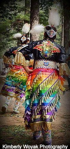 Jingle Dress Dancers by Kim Woyak on Capture Wisconsin // Menominee Nation Pow-Wow, held in Keshena WI