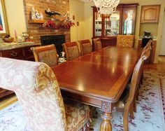 Elegant Formal dining room by Domain Furnishings. Like new condition.