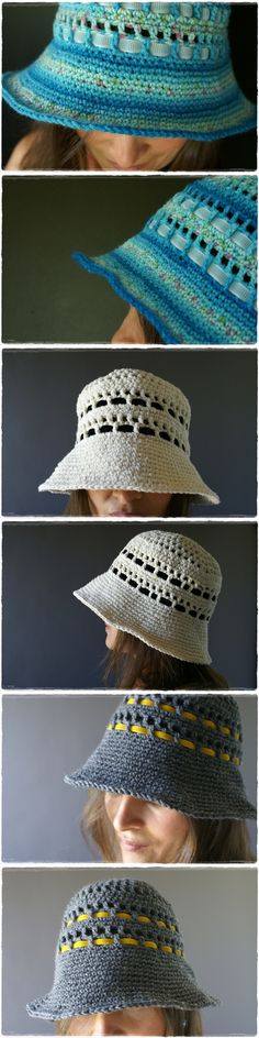 Summer hat tutorial pattern ... could be done on a loom.