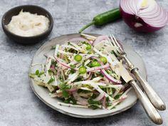 zellersalata-recept Chia, Coleslaw, Penne, Nutella, Cabbage, Vegetables, Recipes, Food, Spring