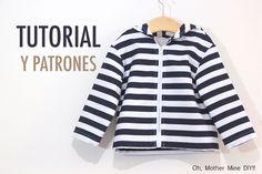 Costura Chaqueta para Niños (patrones gratis hasta talla 8 años) | | Oh, Mother Mine DIY!!