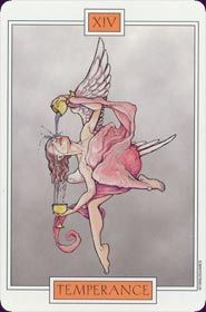 Example card from the Winged Spirit Tarot deck. DISCOVER MORE: http://www.tarotacademy.org/winged-spirit-tarot/