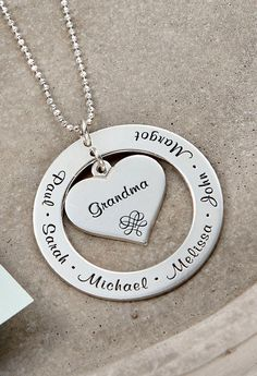 47e293725c6e Let us engrave your loved one s names on this Mother s Necklace. Since you  can get