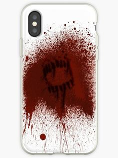 Zombie Phone Case - Bite Mark Cover.  Durable flexible case grips edges of your phone Shock absorbent TPU case with anti-fingerprint finish Colors printed on the frosted shell surface Try Snap Cases for a lightweight hard case or Tough Cases for an extra durable option  #Halloween #zombie #halloweenparty #horror #halloweenpartyideas #Phone #Phonecase #Case #Iphone #Samsung #cover #bite #bitten #bitemark #blood #gore #gory #splatter #splat #Apocalypse #zombie #Zombies #red #teeth
