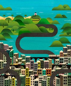 Sea Change by Marc Martin, via Behance