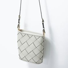 BRAIDED LEATHER BAG from Zara