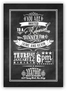 Chalkboard Art invitation