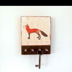 Fox key holder  http://www.etsy.com/listing/86299003/key-holder-hooks-fox-wall-mount-red?ref=sr_gallery_10&sref=&ga_search_query=wall+key+holders&ga_view_type=gallery&ga_ship_to=US&ga_page=6&ga_search_type=handmade&ga_facet=handmade