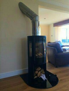 #Contura 556 style with stainless steel flue system into an existing chimney