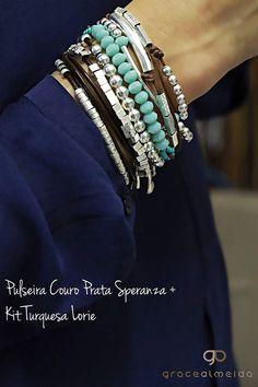 Inspiração de look prata, na loja virtual: www.lojagracealmeida.com.br