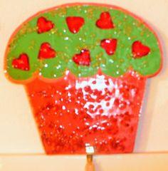 Géant gâteau cœurs accroche torchons