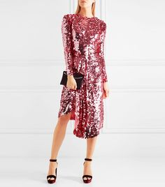 Preen by Thornton Bregazzi Carlin Sequin-Embellished Dress