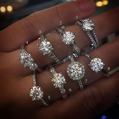 Gorgeous Engagement Rings  Available Oct. 3rd at our Trunk Show