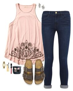 """""""America was founded by people who believe that God was their rock of safety. -Ronald Reagan"""" by oh-so-rachel ❤ liked on Polyvore featuring Hollister Co., Frame Denim, Birkenstock, Kate Spade, Stila, NARS Cosmetics, Bare Escentuals, BaubleBar, women's clothing and women"""