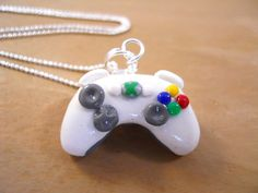 Christmas In July Sale - Xbox 360 Controller Charm- Polymer Clay - Video Game- Keychain, Necklace, Phone Charm - Featured On MSNBC. $10.00, via Etsy.