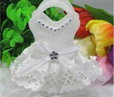 White Wedding Dress Design Set of 12 Favor Holders - Wedding Favors - Wedding Renaissance Wedding Dresses, White Wedding Dresses, Designer Wedding Dresses, Wedding Favors, Wedding Events, Wedding Ideas, Weddings, Communion, Wedding Dress Costume