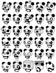 Panda+chibi im in love♥ Panda Kawaii, Japan Kawaii, Niedlicher Panda, Kawaii Cute, Chibi Panda, Panda Bears, Cartoon Panda, Panda Emoji, Cute Panda Drawing