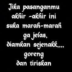 krikk..krikkk..krikkk Quotes Lucu, Jokes Quotes, Life Quotes, Cool Words, Wise Words, Pretty Quotes, Quotes Indonesia, Indesign Brochure Templates, Just Smile