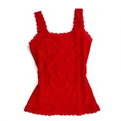 Hanky Panky Lined Camisole - Signature Lace (XS, Red) Hanky Panky. $38.50