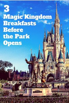The secret to early entry at the Magic Kingdom is easier than you think: book a breakfast! Find out all about three delicious Walt Disney World restaurants for a morning meal and learn how you can also beat the crowds when you are done dining. Disney World 2017, Disney World Food, Disney World Restaurants, Disney World Magic Kingdom, Disney World Planning, Walt Disney World Vacations, Disney World Resorts, Disney Trips, Disney Travel
