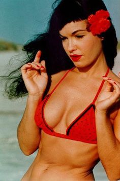 Bettie Page. Such a beautiful woman, inside and out. My #1 inspiration for keeping up the pin-up look.