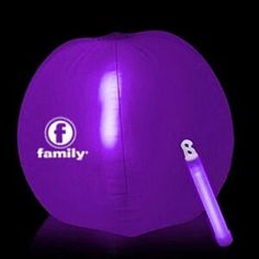 "Glow Beach Ball - 12"" Purple"
