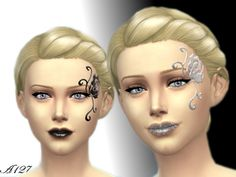 The Sims Resource: Night Dream face paint by Altea127 • Sims 4 Downloads