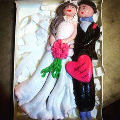 Wedding couple salt dough