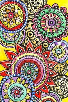One of Alisa Burke's beautiful circle doodles.  alisaburke.com