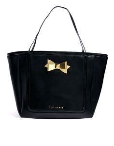 a44a5e7679fab Ted Baker Meteen Crosshatch Leather Bow Shopper Ted Baker Totes