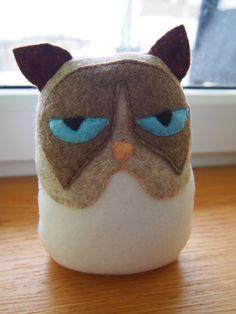 felt grumpy cat