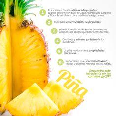 Incluir piña en la dieta de tus hijos es importante, pues ayuda en el crecimiento óseo, tejidos y sistema nervioso ¡Aprovecha las propiedades de esta deliciosa fruta!