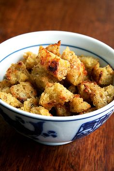 the most delicious mustard croutons