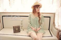 #mintgreen Gyaru Fashion, Kawaii Fashion, Asian Fashion, Kawaii Style, Kawaii Girl, Japanese Fashion, Mint Green, Ulzzang, Robin