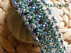 O-Duo bracelet beaded by Gabriella Noszáné Makra. Beautiful!!! Thank you for sharing!