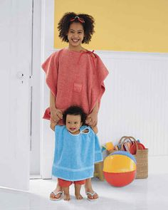 Nothing feels better than terry cloth after a swim, and a towel poncho is…
