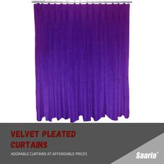 Pleated Curtains, Beautiful Curtains, Velvet, Room, Ruffle Curtains, Bedroom, Rooms, Rum, Peace